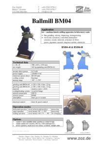 thumbnail of Ballmill BM04 (E) 1601